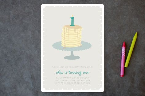 First Birthday Brunch Children's Birthday Party Invitations by Kathleen Niederhauser at minted.com