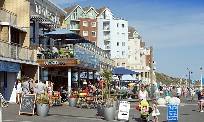 Bournemouth is the UK's Silicon Beach with over 400 digital agencies based here.  Urban Reef cafe on Boscombe beach. Photograph: Adrian Sherratt