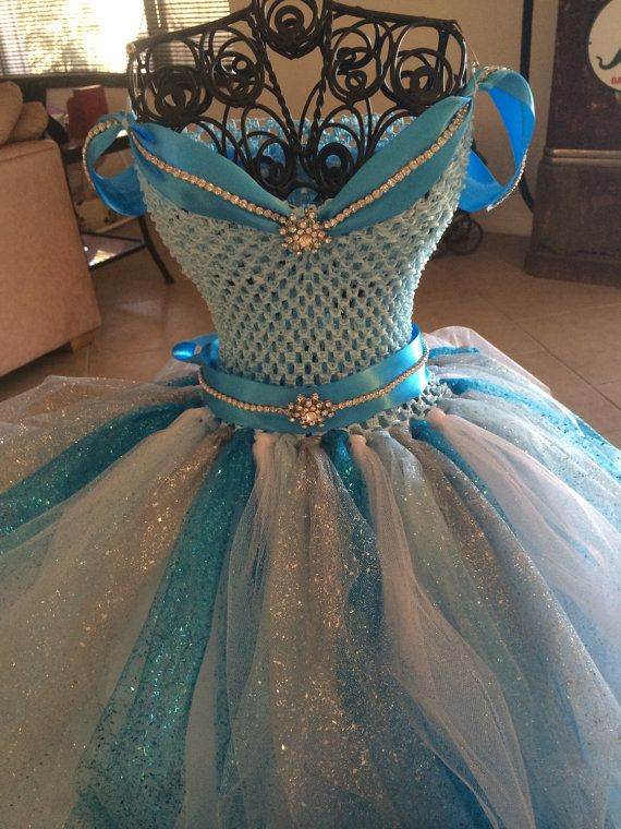 Frozen Inspired Tutu Dress-  Princess Elsa