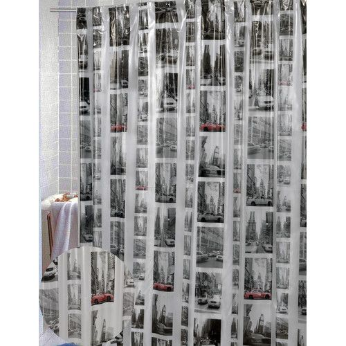 Found it at AllModern - Vinyl New York Shower Curtain