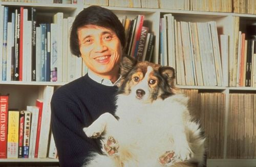 Tadao Ando and his dog Le Corbusier