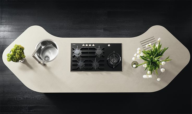 Grace Kitchen by ValDesign - aerial view. Available exclusively to Atmosphere 1102 in the UK.