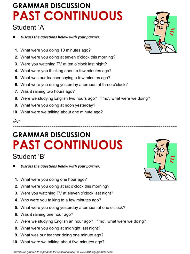 English Grammar Discussion, PAST CONTINUOUS. http://www.allthingsgrammar.com/past-continuous.html