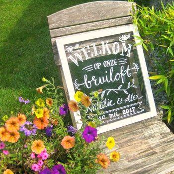Krijtborden voor bruilofen en feesten