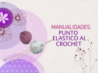 Manualidades y Artesanías | Punto elástico al crochet | Utilisima.com: Punto Vainilla, Al Crochet, Hook, Craft, Needle, Punto Elástico, Punto Margaritas, Vanilla, Elástico Con