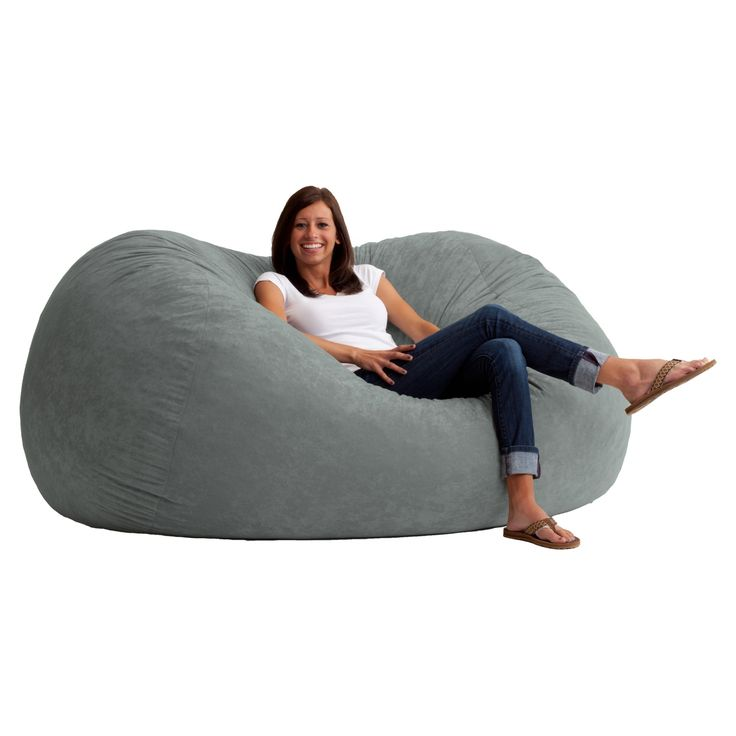 XL Comfort Suede Bean Bag Sofa