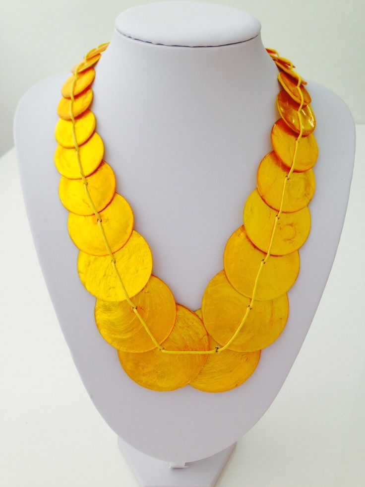 Beautiful yellow shell necklace $10, go to www.melikeshoes.com.au (We always do free shipping)