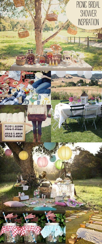 super cute picnic bridal shower inspiration ideas