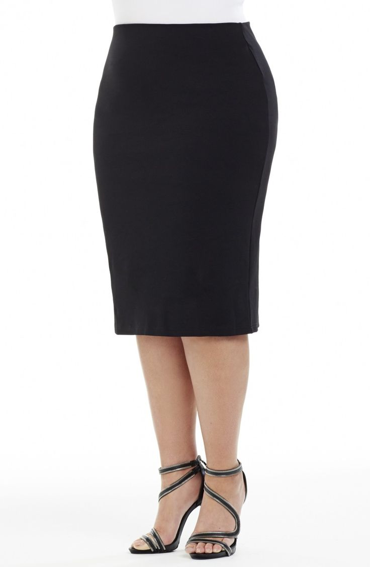 Tube Skirt | Black Style No: SK8061 Textured super stretch Polyester Jersey fabric tube skirt. This skirt has an elasticized band waistline and is Fully lined in a lightweight stretch fabric. This Skirt is great worn on its own or as a layering piece. #dreamdiva #dreamdivafiles #plussize