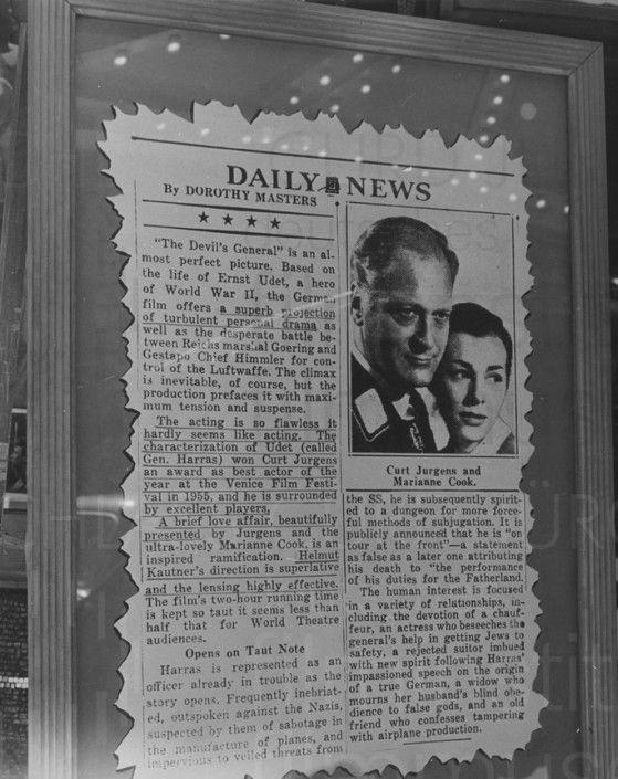 DES TEUFELS GENERAL (1955) Werbekampagne US-release, 1