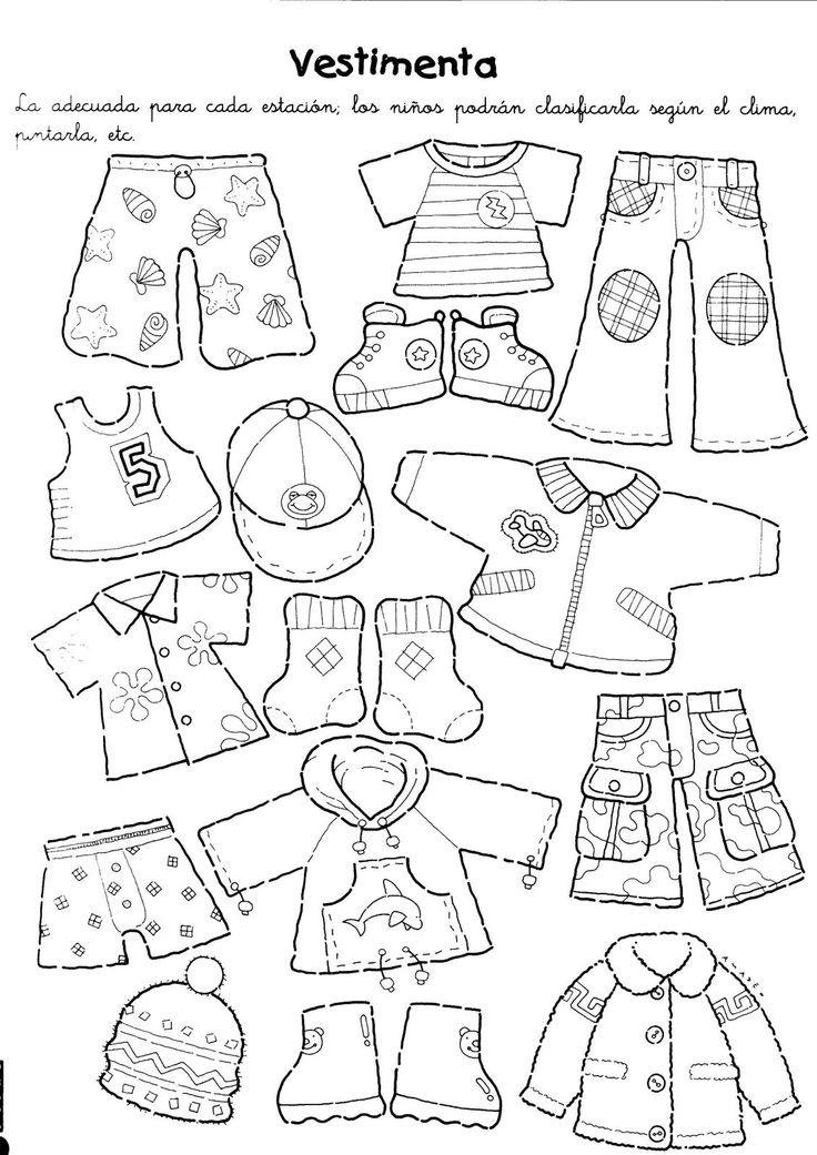 dibujos de la ropa de las estaciones revista maestra infantil - Buscar con Google