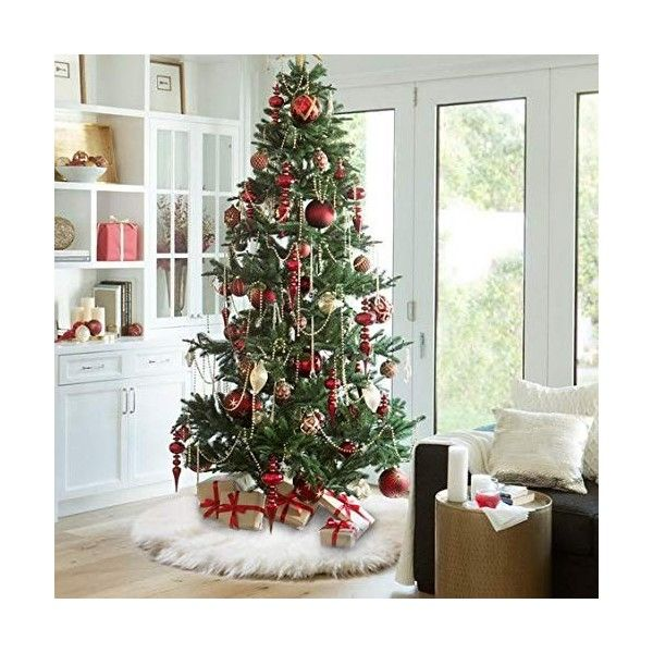 48 Inches Christmas Tree Skirts White Plush Faux Fur Tree Ornaments Thick Xmas Tree Skirt For Christmas Decoration New Year Party Ca18h9i63em Christmas Tree Decorations Beautiful Christmas Decorations Balsam Hill Christmas Tree
