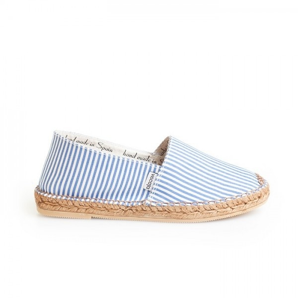 Authentic white and blue stripes Espadrilles from Spain for him