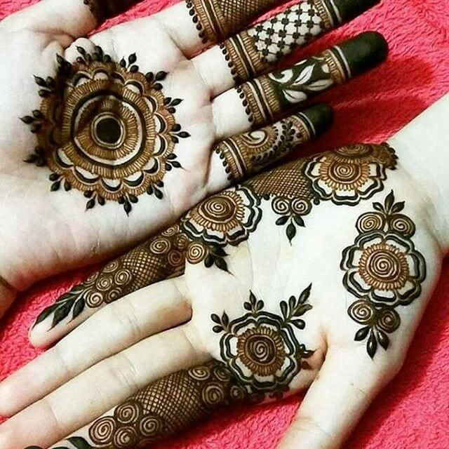 Pakistani Front Hand New Style Mehndi Design