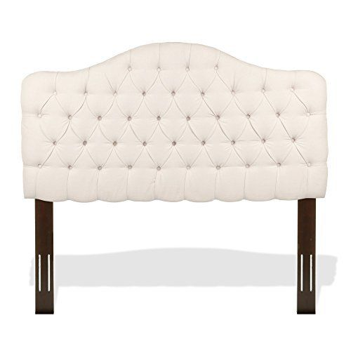 The Martinique B72121 Full / Queen sized headboard combines soft, sweeping curves with straight lines to create an enduring transitional style. Constructed of solid wood and upholstered in a Ivory finished 100% polyester fabric, this button-tufted tailoring, so common to French décor, and the ... more details available at https://furniture.bestselleroutlets.com/bedroom-furniture/beds-frames-bases/headboards-footboards/headboards/product-review-for-martinique-upholstered-adju