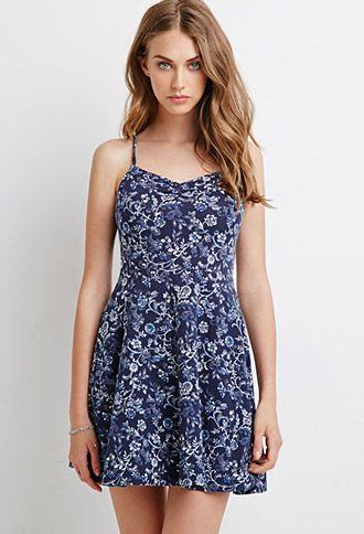 Ornate Floral Print Dress | Forever 21 - 2000054195