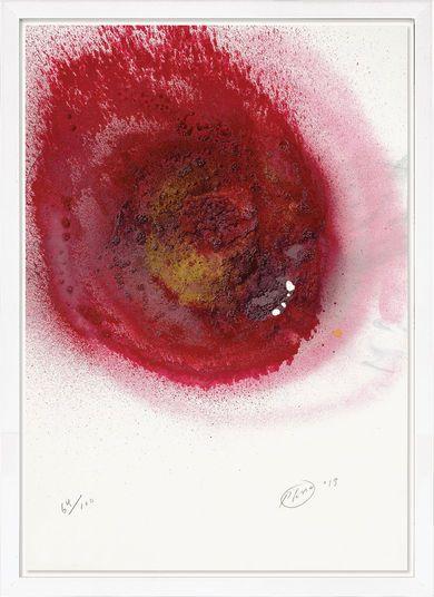 """Otto Piene, """"Zwei kleine Löcher gebrannt"""", 2013 http://www.kunsthaus-artes.de/de/783088.R1/Bild-Zwei-kleine-Loecher-gebrannt-2013/783088.R1.html#q=piene&start=3"""