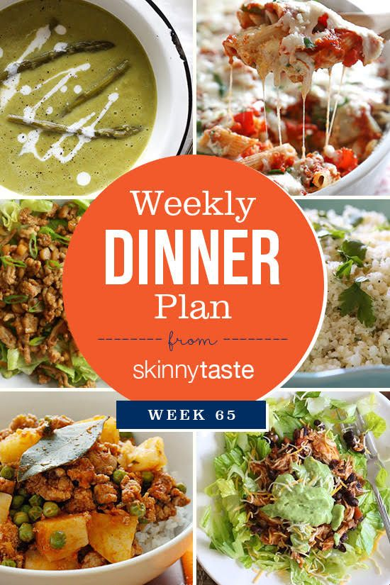 Skinnytaste Dinner Plan (Week 65) | Skinnytaste
