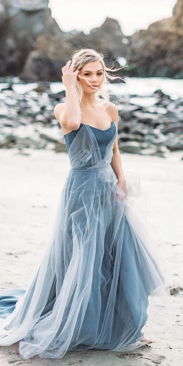 21 Adorable Blue Wedding Dresses For Romantic Celebration Blue Wedding Dresses Blue Wedding Gowns Amazing Wedding Dress
