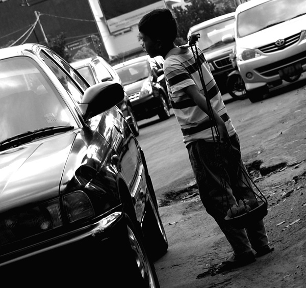 Young Street Hawker from Bandung, Indonesia