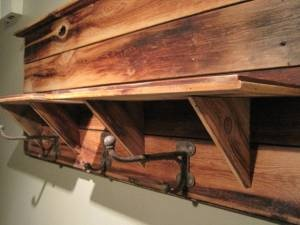 Beautiful wood design and like the aged look. Possibility to get ideas for making one.: Racks Ideas