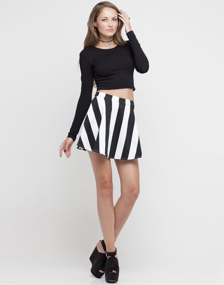 10 best Black and White Skirt images on Pinterest