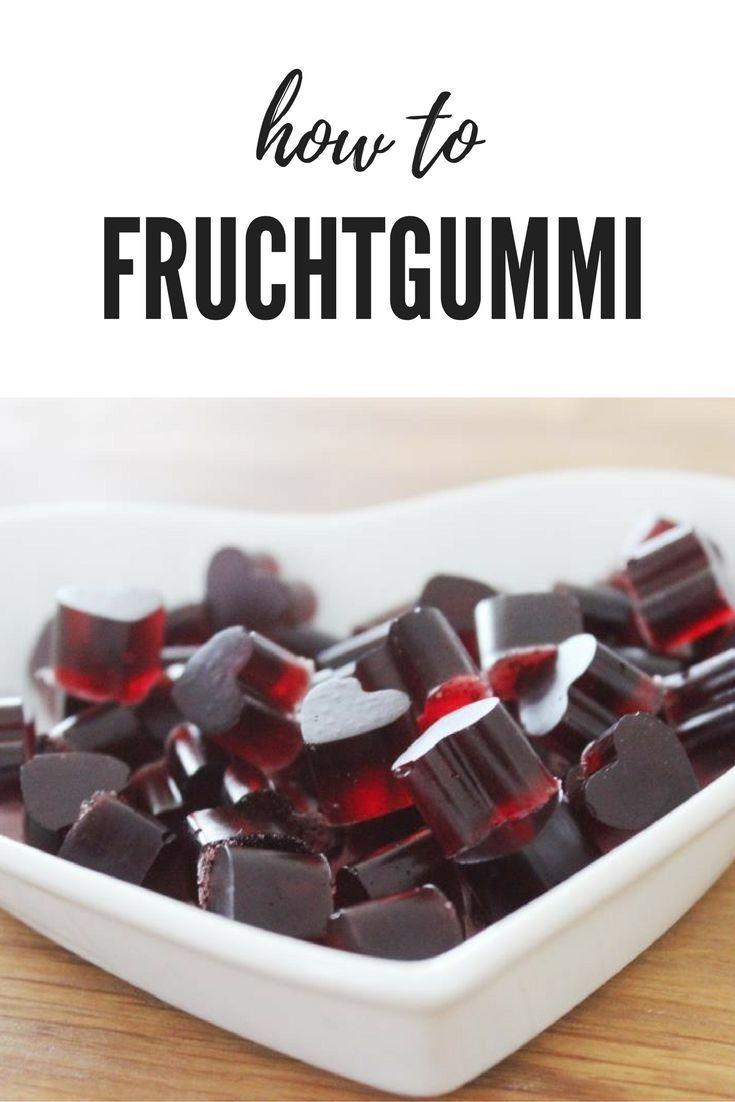 Fruchtgummiherzen mit Kirsch, Johannisbeernektar und Co. - gesund naschen.