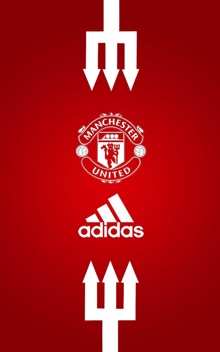 Manchester United Adidas Android wallpaper red