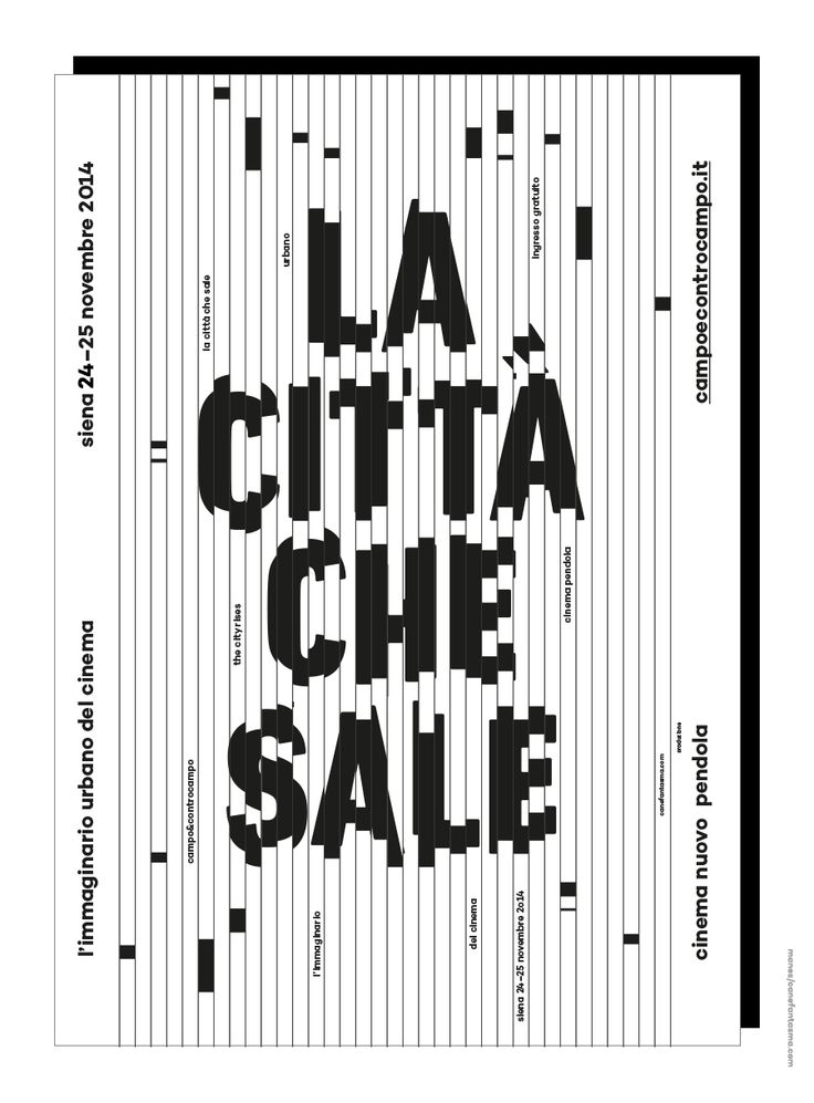 Canefantasma, La città che sale / The city rises (poster, 2014 – rejected)