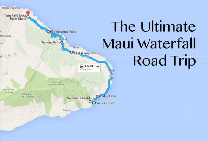 Maui's Road to Hana provides the perfect backdrop to complete the quintessential Hawaiian waterfall road trip.