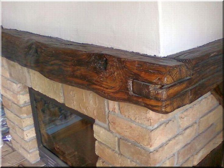 antik faanyagok, kandalló szemöldökfa