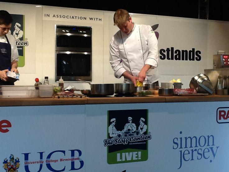 Adam Stokes in our New Prestige Chef's Jacket! (CJ1830)
