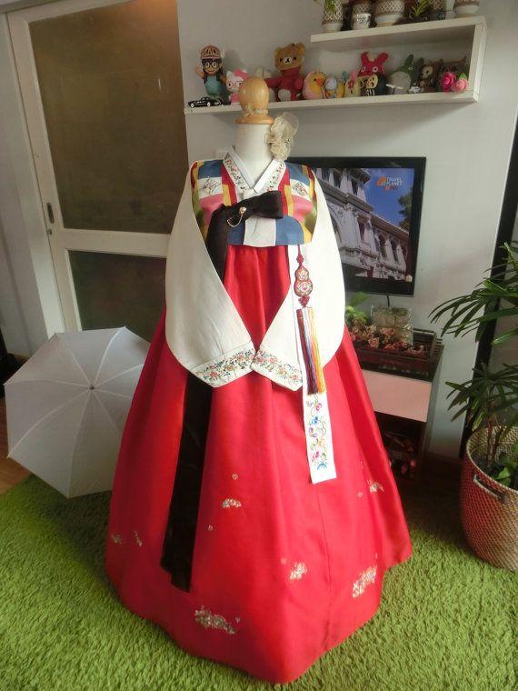 Korean Traditional Clothes Dress HANBOK WOMAN  by kimonocuty