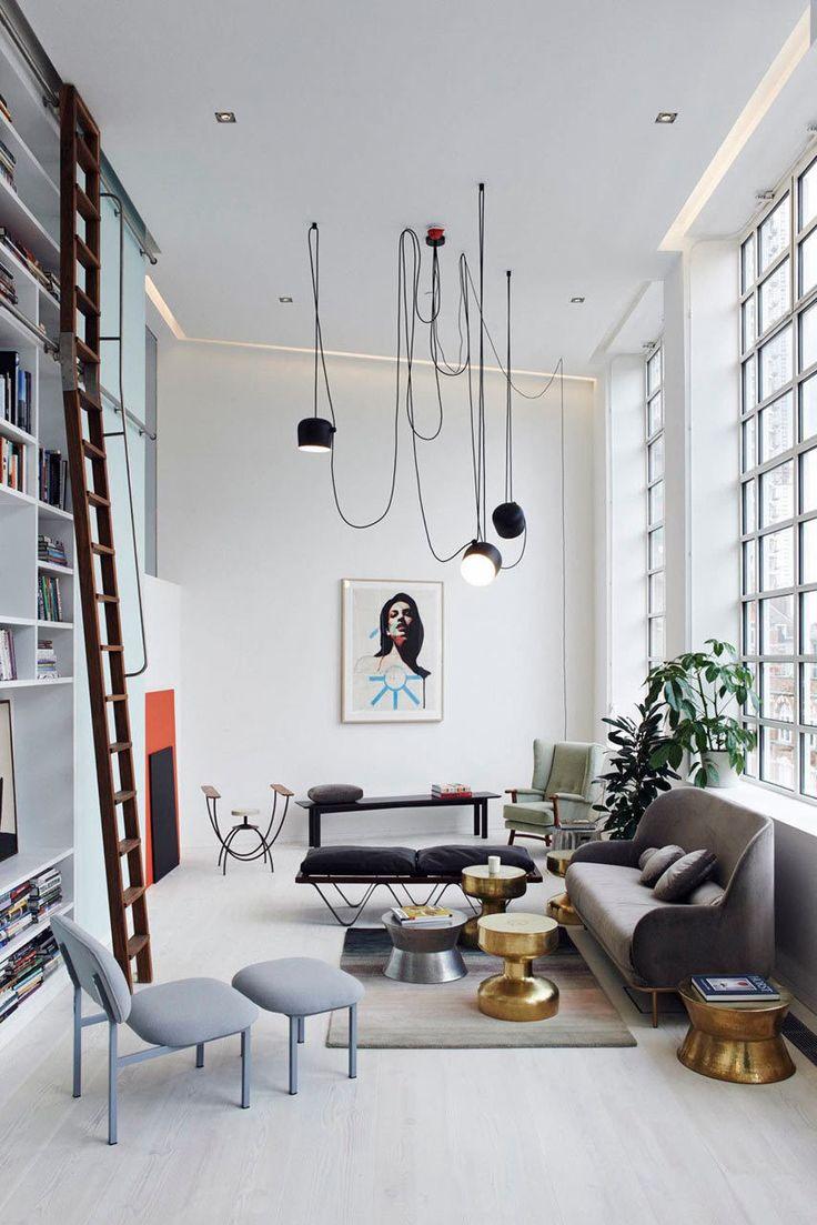 White Urban Loft Style Living