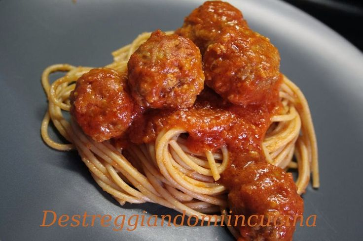 Destreggiandomi in cucina: Spaghetti with meatballs all'italiana e light