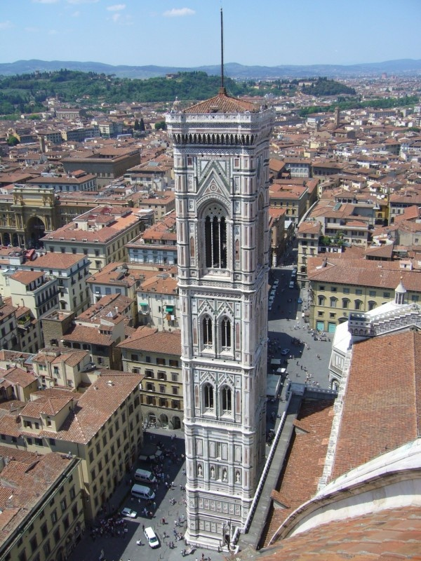 Giotto's Campanile, Florence Italy.  We walked to the top of that.  Scary!