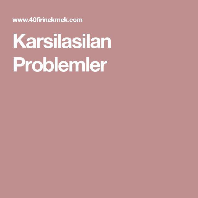 Karsilasilan Problemler