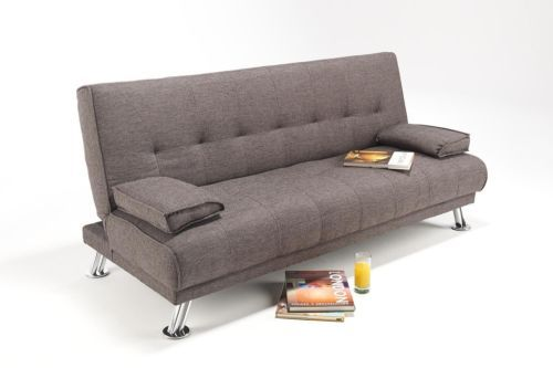 Details About Hudson Modern 2 Seater Fabric Sofa Bed Suite
