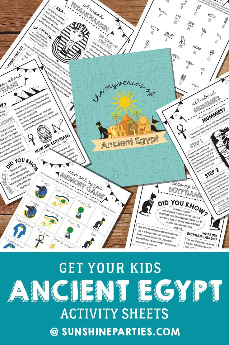 Explore Ancient Egypt With Printable Activity Sheets Sunshine Parties Ancient Egypt Activities Egypt Activities History For Kids