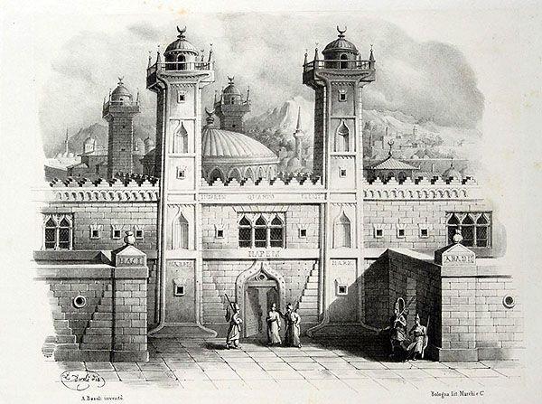 Antonio Basoli (1774-1848) 'Alfabeto Pittorico'  (1839)