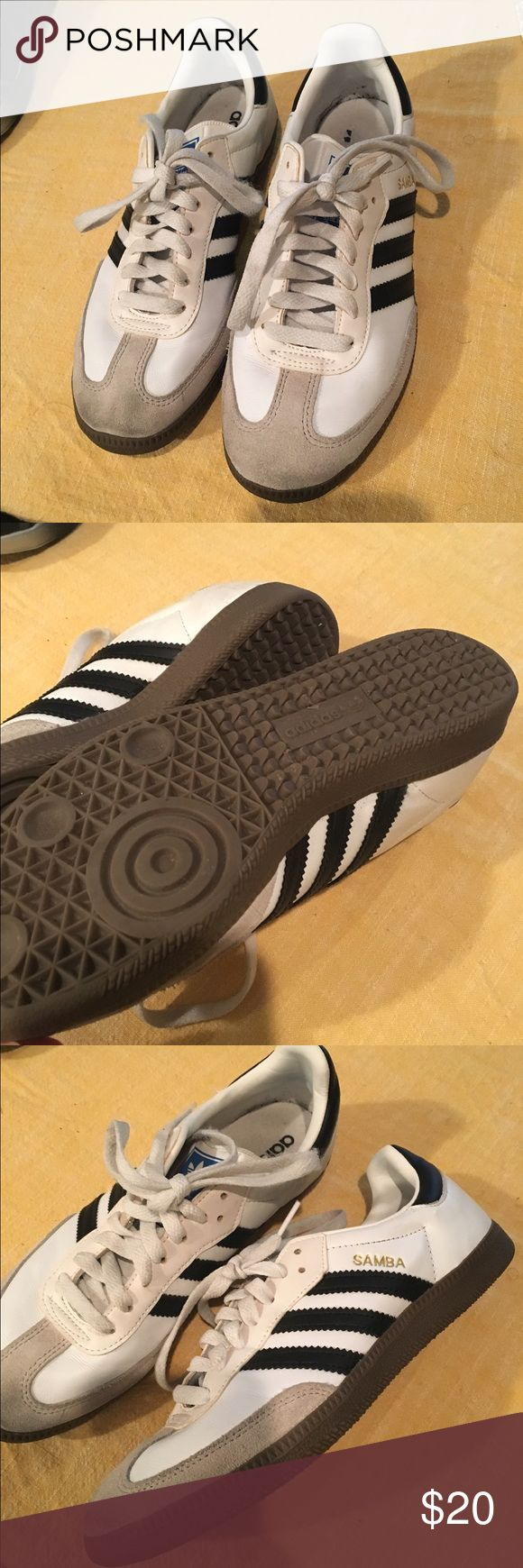 adidas Samba sneakers Shows some signs of wear on suede toe caps and insoles but all around good condition. Women's 9 / Men's 7 / fits like an 8.5 - 9 for ladies. Adidas Shoes Sneakers