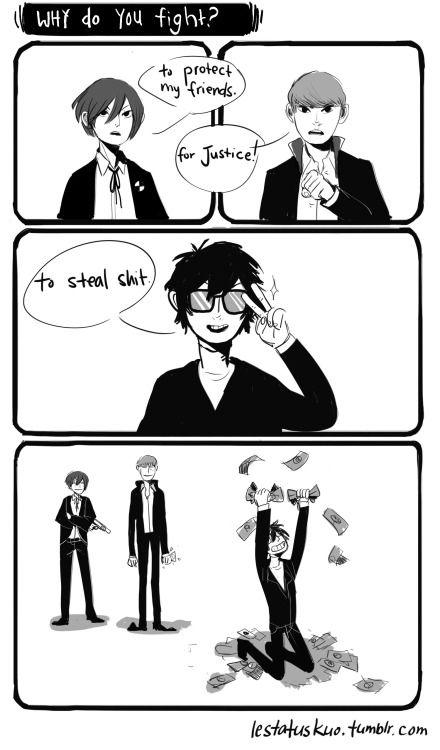 lestatuskuo Priorities. Persona fan Persona 5