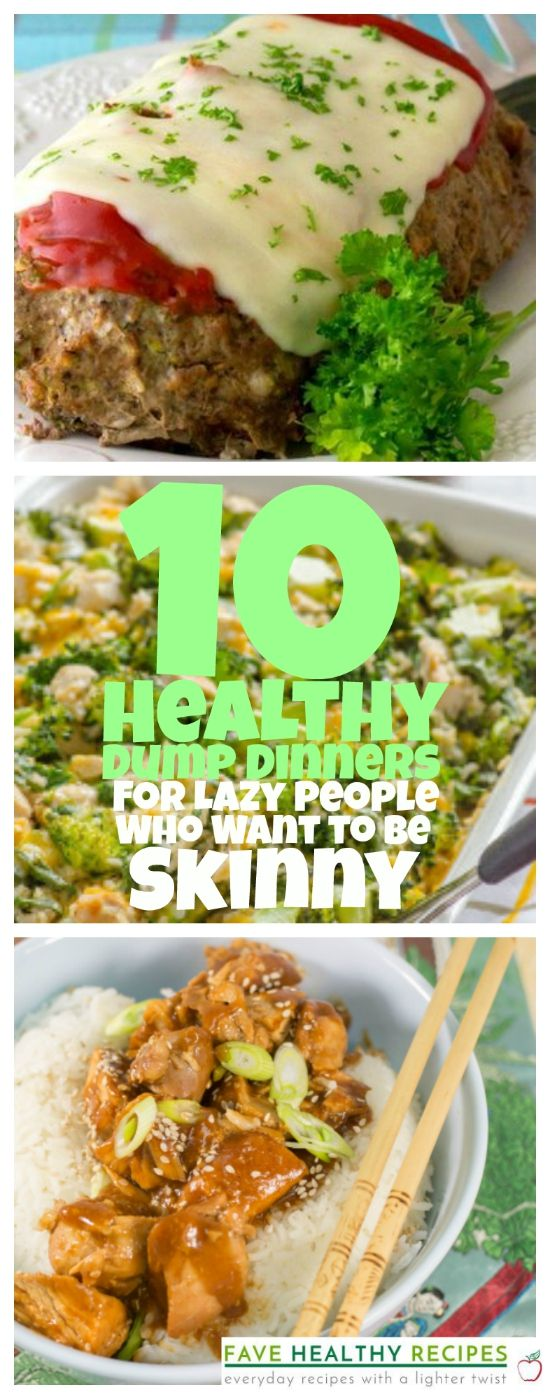 Want to be skinny? These are the best healthy recipes for lazy people! (We mean that in the best way possible!) These dump dinners are just so good.