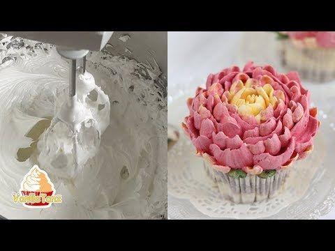 Feuchte Baiser Creme zum Blumenspritzen und Tortendekoration - YouTube