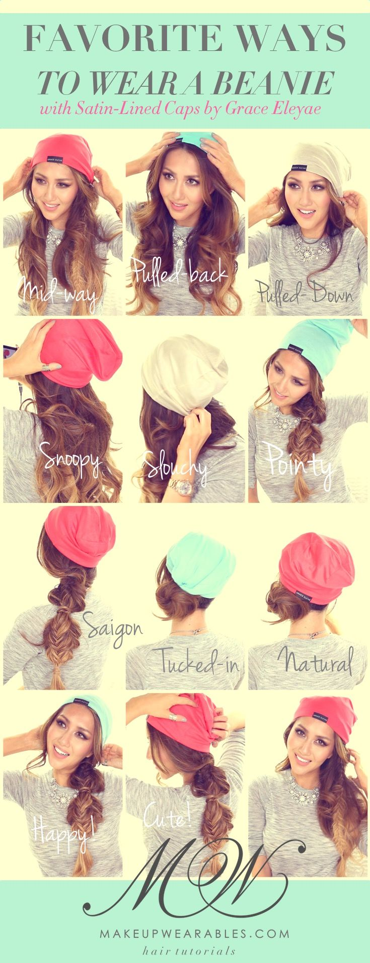 Cute Ways to Wear a Beanie -  Easy Fall Style | Long Hairstyles