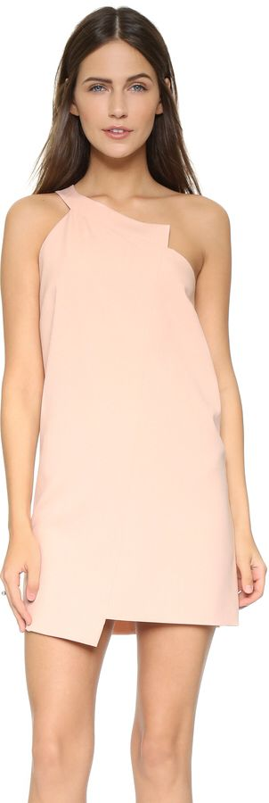 Michelle Mason One Shoulder Shift Dress