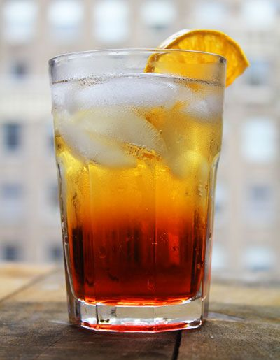 "Bright red and bittersweet, the Americano was born as the ""Milano-Torino"" at Caffè Camparino in the 1860's (the Campari came from Milan, the sweet vermouth from Turin). The cocktail eventually became known as the Americano due to its popularity with American expats during prohibition."