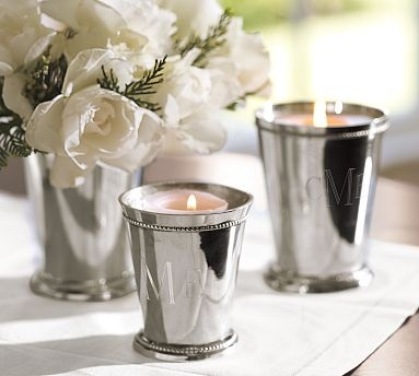 i want these monogrammed candle pots