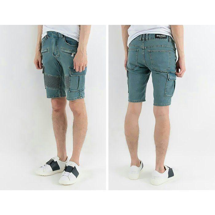 Balmain Cargo Denim Shorts  발망 청카고 하프팬츠 데님 반바지