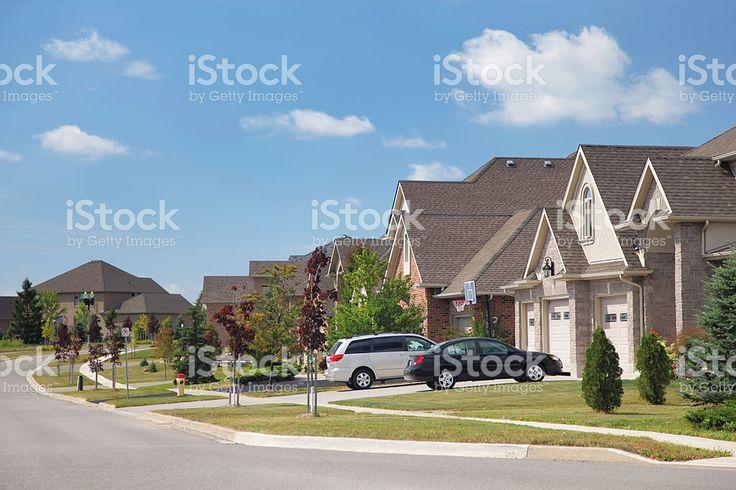 Modern Residential Urban Sprawl royalty-free stock photo